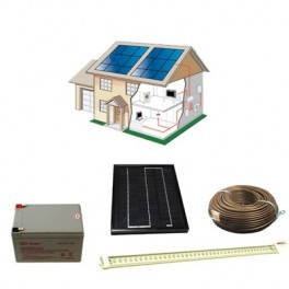 Kit solaire 5 Watts rampe Leds 12 Volts
