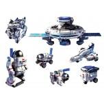 Kit Jouets solaires  hybrides 7 en 1 SPACE EXPLORER , maquettes d'objets de l'espace à construire