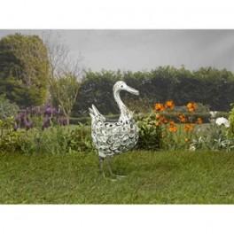 Canard Solaire, silhouette en métal