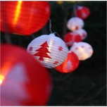 Guirlande solaire Christmas lampions
