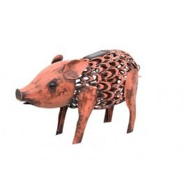 Silhouette Métal Cochon Solaire