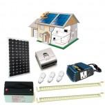 Kit solaire 140 Watts maxi éclairage Leds 12 Volts