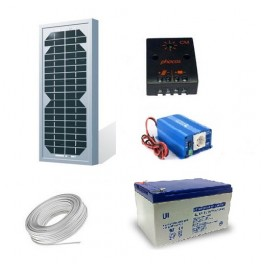 Kit solaire 5 Wc 220 Volts - 180 Watts
